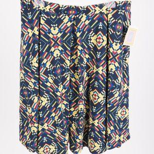 Lularoe Madison Skirt XL 18-20 Box Pleated Flowy